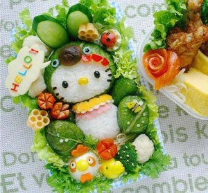 Bento Box version of Hello Kitty.