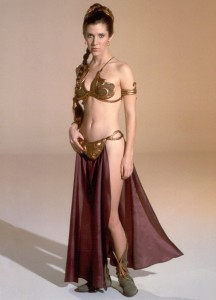 Slave Leia doesn't eat candy bars